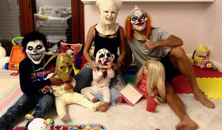 Cristiano Ronaldo and his family show off their 'scary' Halloween looks (Photo)