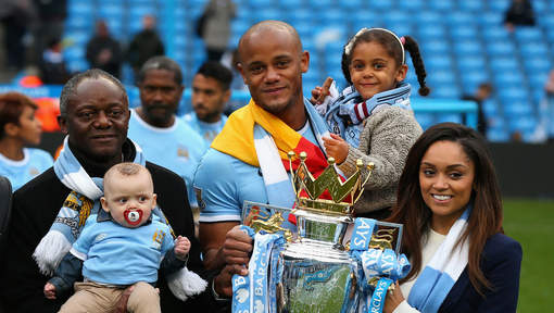 Manchester City captain Vincent Kompany celebrates father as he becomes the first black mayor in Belgium