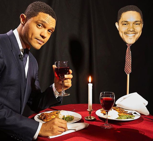 Trevor Noah goes on a romantic Valentine's Day date with himself. Lol
