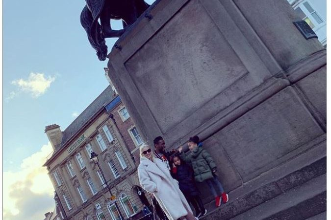 Beautiful family photos of Mikel Obi, his partner and their daughters as they enjoy a stroll in Middlesbrough