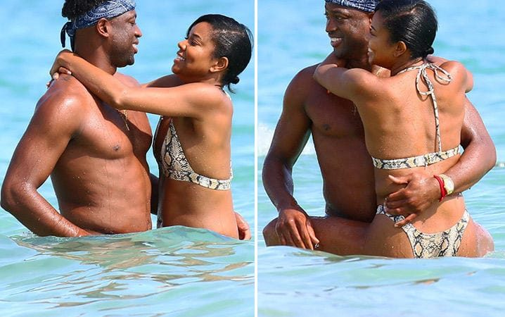 Dwyane Wade and Gabrielle Union All Over Each Other On Beach Vacation