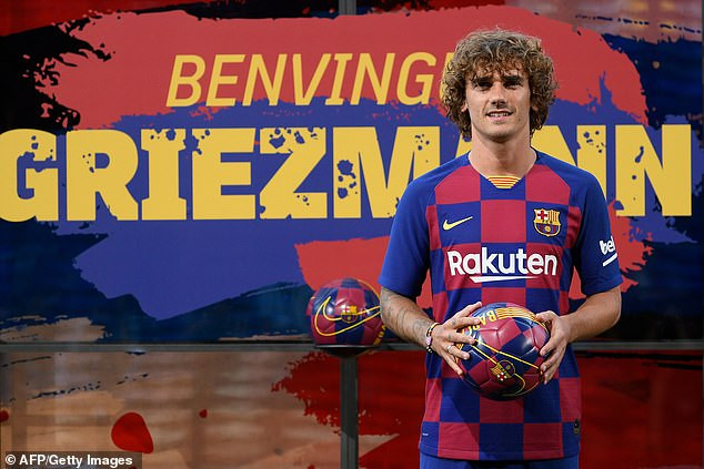 Barcelona unveil Antoine Griezmann following £108m move from Atletico Madrid, reveal his shirt No. (Photos)