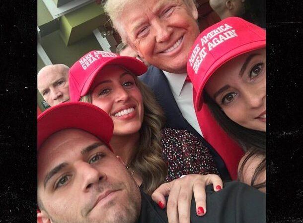 Donald Trump Shows Up, Kisses Bride At MAGA Wedding  (WATCH)