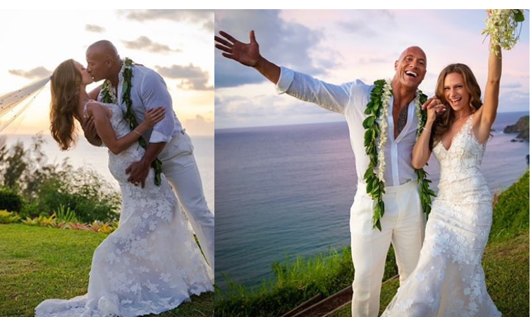 Dwayne 'The Rock' Johnson marries his longtime girlfriend Lauren Hashian in Hawaii (Photos)
