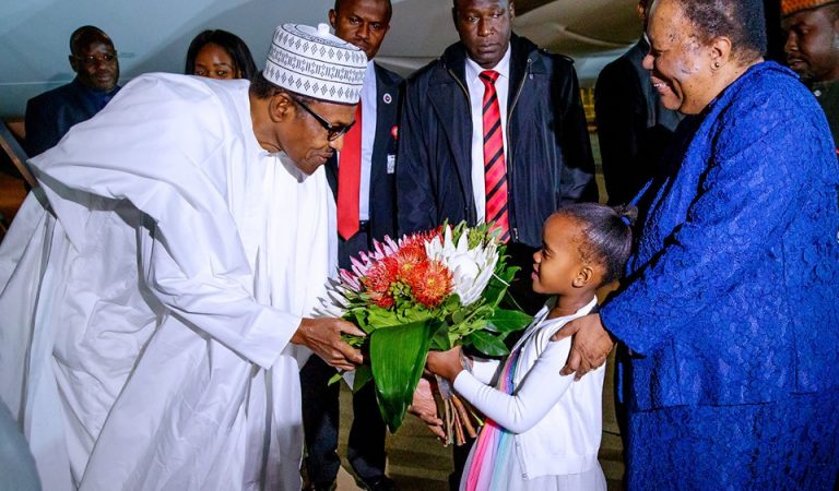 """#Xenophobia: """"South Africa is still wet with the blood of your children and you are there smiling and receiving flowers"""" Yomi Fabiyi tackles President Buhari"""