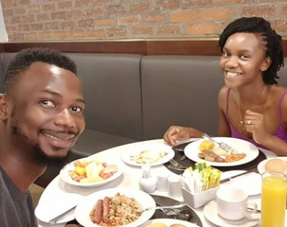 EmmaOhMaGod treats his wife to breakfast in the same hotel they lodged at for their wedding as they mark 3rd wedding anniversary