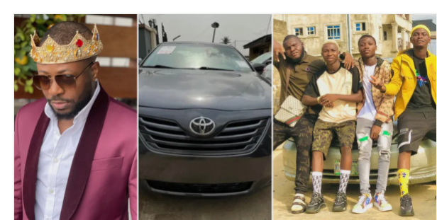 Tunde Ednut fulfills promise, surprises loyal fans who made a skit to appreciate him with a car