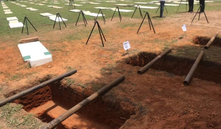 Check out photos of where late Army Chief and 11officers will be buried