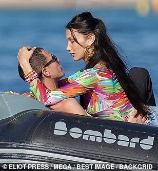Bella Hadid and Boyfriend Marc Kalman Make Out on Boat After Confirming Romance